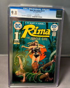 RIMA, THE JUNGLE GIRL # 1 - CGC 9.8 - DC COMICS 4-5/1974 - WHITE PAGES
