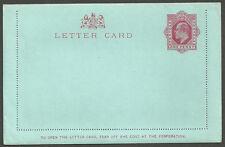 1d Rojo Edward Vii Sin Usar Tarjeta Carta Huggins lcp3a