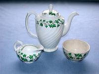 Burslem England Burleigh Ironstone Ivy Teapot w/C&S