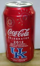2012 University of Kentucky Wildcats NCAA Basketball Champs Coca-Cola Coke Can