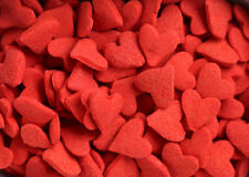 Jumbo Red Heart Shapes Sprinkles Jimmies, quarter pound (Valentine) Free Ship