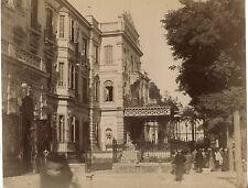 Caire Egypte Hôtel Shepheard Photo Zangaki, Vintage albumen albuminé ca 1875