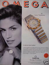 PUBLICITÉ OMEGA CONSTELLATION LE CHOIX DE CINDY CRAWFORD THE SIGN OF EXCELLENCE
