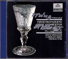 Heinz HOLLIGER signed Salieri Dittersdorf Lebrun Oboe Concerto CD CAMERATA BERN