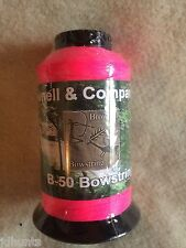 Brownell Dacron Bow String Material B-50 1/4 pound Flo Pink New color