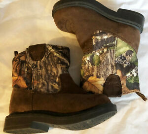 Boots Cowboy boys size 4M new man made materials brown Faded Glory