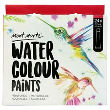 Watercolour Paint Set 24-Colour 12ml Tubes Water Mont Marte Art Craft Supply