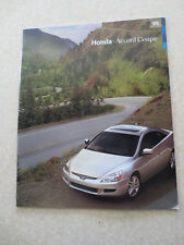 2005 Honda Accord Coupe automobile advertising booklet