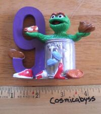 "Oscar the Grouch #9 Applause 3"" PVC figure trash can VINTAGE the Muppets shoes"