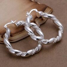 Fashion wedding hot Silver Pretty cute women circle lady Earring jewelry E156