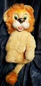 Vintage Plush Lion Rubber Face Plush Stuffed Animal Rushton Gund Knickerbocker
