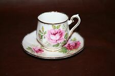 "Vintage Royal Albert English Bone China Floral Cup & Saucer - ""American Beauty"""