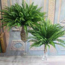 Large Artificial Boston Fern Fake Plant Bush Leaf Foliage Persian Grass Decor US