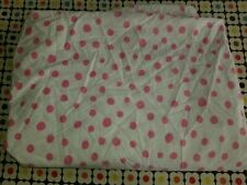 """Pottery Barn Kids """"Pink Dots"""" Twin Flat Sheet"""