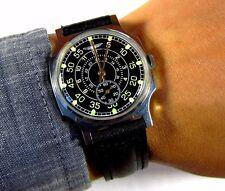 ZIM Aviator mens wrist watch  vintage 1980s Original USSR RARE Serviced