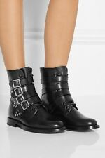 YSL Yves Saint Laurent Rangers Runway Ankle Combat Boots Shoes 38 8