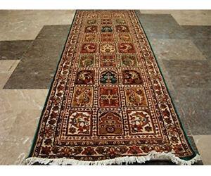Exclusive Bakhtiari Hand Knotted Fine Runner Rug Wool Silk Carpet (5.10 x 2.0)'