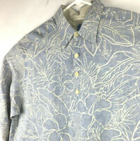 Tommy Bahama Relax Mens Medium 100% Linen L/S Button Floral Aloha Shirt-Starched