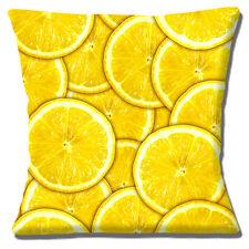 """Cushions Corner Fresh Lemon Slices Fruit Photo Print 16""""x16"""" 40cm Cushion Cover"""