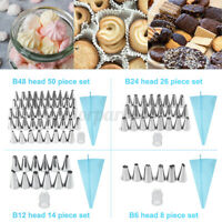 8/14/26/50PCS Cake Piping Nozzles Tips DIY Flower Cake Pastry Decorating Set ❥