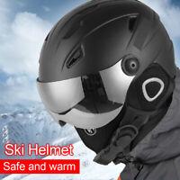 Adult Ski Snowboard Helmet Ventilation Winter Snow Sport Protect w/Goggles Visor