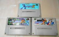 Nintendo Super Famicom Rockman X 1 2 3 set Mega man SFC SNES Japan