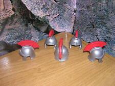 B 11/10 5 Romain Casque argent Avec Plume rouge Légionnaire Tribune Centurion