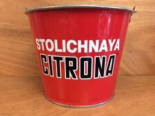 Stoli Stolichnaya Citrona Red 5 qt Galvanized Ice Bucket - New - Many Many Uses.