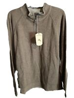 $100 NWT! Tommy Bahama Reversible Proutsneck Quarter Zip Pullover Sweater LARGE