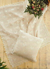 Baby Crochet Pattern Hearts Shawl and Cushion Cover 4 ply  362