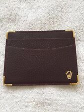 100% ORIGINAL ROLEX BROWN LEATHER CARD HOLDER 101.70.55 EXCELLENT CONDITION