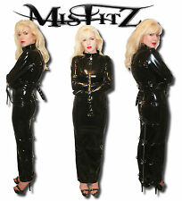 MISFITZ PVC HOBBLE PADLOCK RESTRAINT DRESS  SIZES 8-32/MADE TO MEASURE TV CD