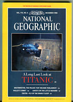 National Geographic Magazine December 1986 Titanic Westminster EX 012016jhe2