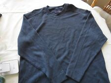 Mens Roundtree and Yorke XL sweater pullover EUC Men's French Rib shirt blue LS