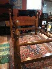 Antique 19th Century Cannonball Maple Bed