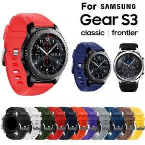 Weich Silikon Armband Sport Strap 22mm Für Samsung Gear S3 Classic / Frontier