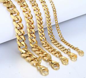 Armband Gold Goldarmband Edelstahl Herrenarmband Schmuck Damenarmband 17cm 12mm