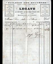 """LES BRUYERES / SAINT-BONNET-TRONCAIS (03) TUILERIE BRIQUETERIE """"LEGATE"""" en 1899"""