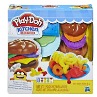 New Play-Doh Kitchen Creations Burger and Fries Set Preschool Toys Clay Pretend