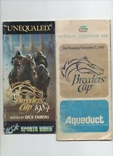 1984 85 BREEDERS CUP HORSE RACING PROGRAM 1ST 2ND RUNNING -AQUEDUCT RACE COURSE