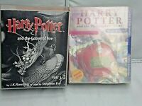 Harry Potter The Philosopher's Stone and Goblet of Fire Audio Cassette Tapes.