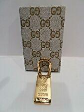 Gucci gold brick keychain