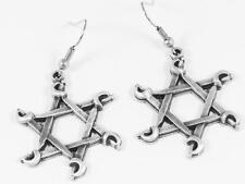Crossed swords Pentagram Gothic earrings