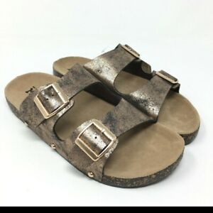 Mudd -Women's Double Buckle Side Sandals /Slip on Sandals