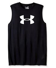 Under Armour Boys' Big Logo Sleeveless T-Shirt YXS