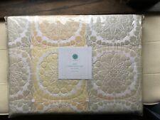 Martha Stewart Collection King Quilt & Shams Set Modern Ombre Floral Cotton