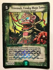 Vreemah, Freaky Mojo Totem Duel Masters DM09 Very Rare card FOIL TCG CCG
