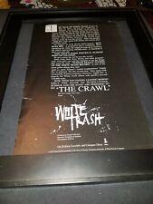 White Trash The Crawl Rare Original Radio Promo Poster Ad Framed!