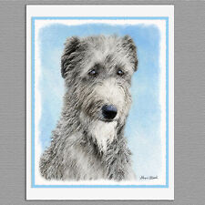 6 Scottish Deerhound Dog Blank Art Note Greeting Cards
