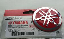 ORIGINAL Yamaha-5,5cm-3D-ALUMINIUM EMBLEM-Aufkleber-Decal-Insignia-55mm-LOGO-ROT